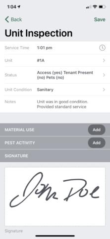 Multi-unit inspection detail
